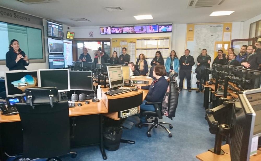 Visita ao centro de operações do Comando Nacional de Operações, na Autoridade Nacional de Proteção Civil.