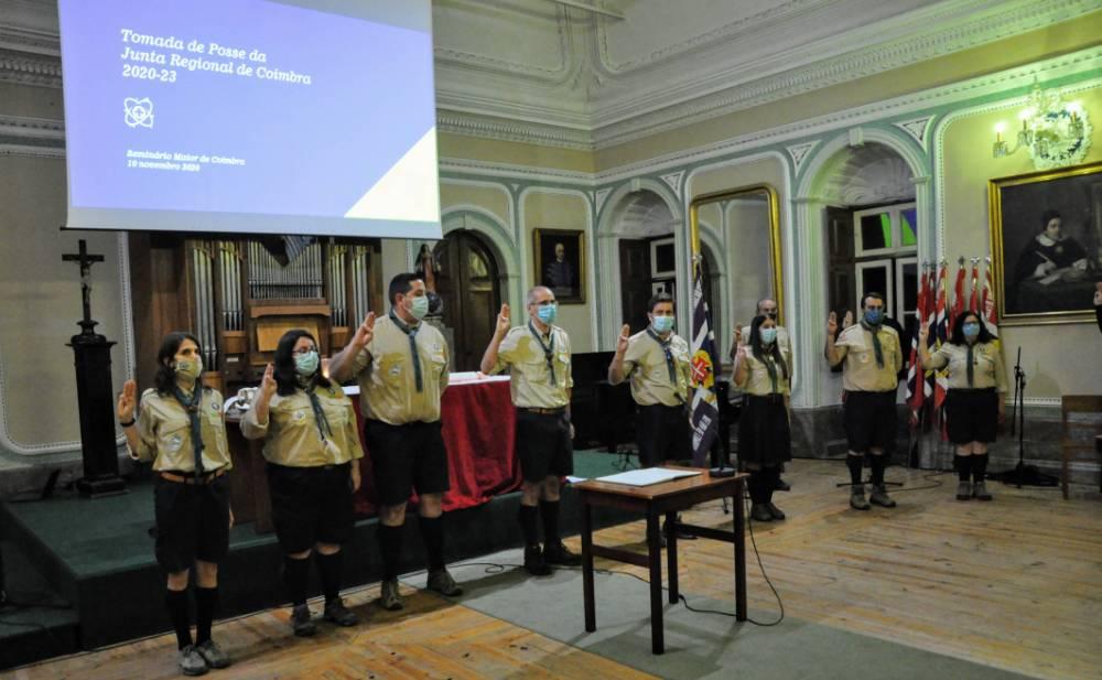A nova equipa da Junta Regional de Coimbra.