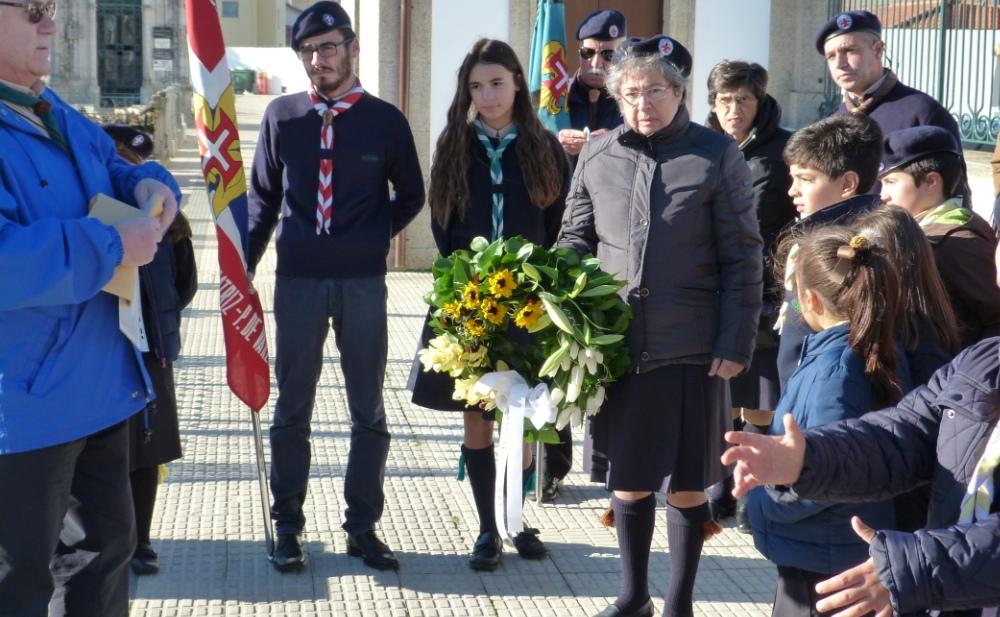 Irmã do Padre Manuel Fonte presente na homenagem.