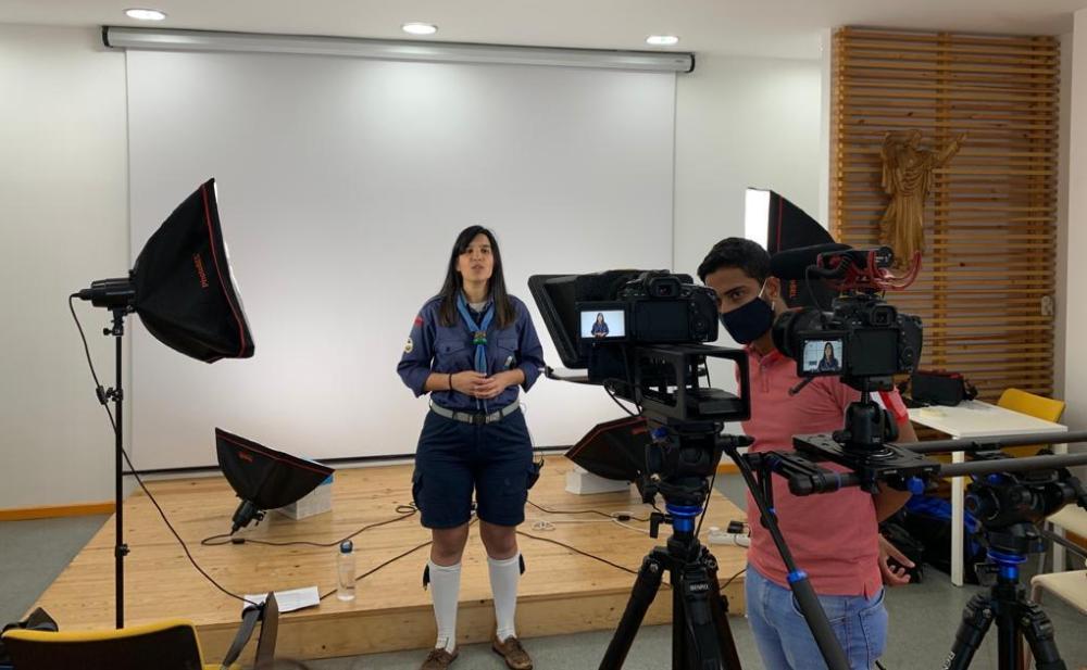 Filmagem dos módulos e-learning.