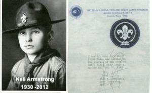 Neil Armstrong escuteiro.