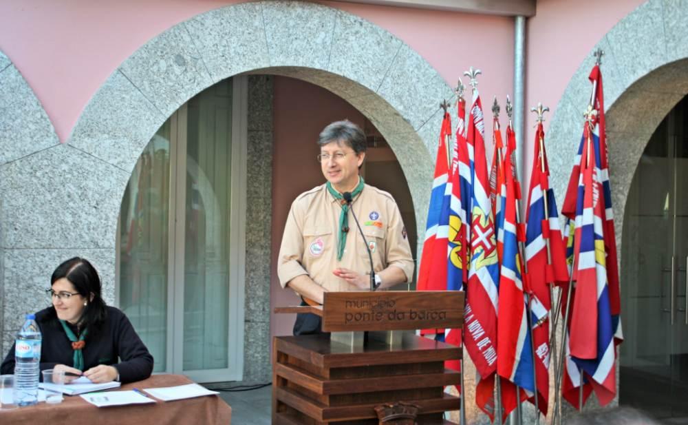 O Chefe Regional, Manuel Vitorino a discursar.
