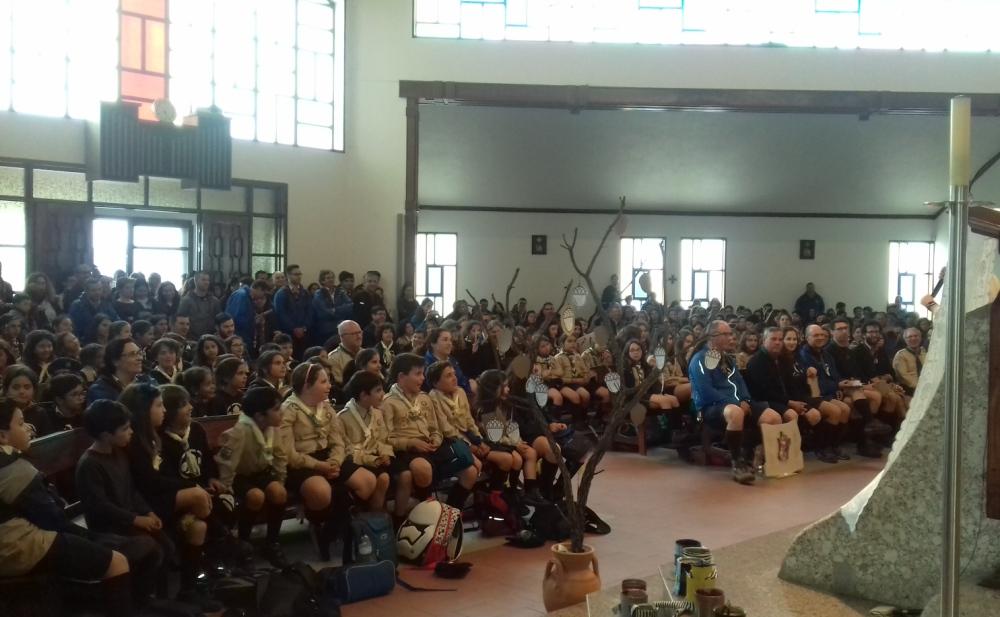 Atividade anual reuniu perto de 600 escuteiros de 12 agrupamentos.